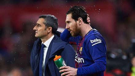 ¡Extrañó a Messi! Ernesto Valverde: