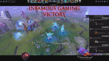 Histórico: Infamous Gaming le quitó el invicto a Vici Gaming, uno de los favoritos en el mundial de Dota 2