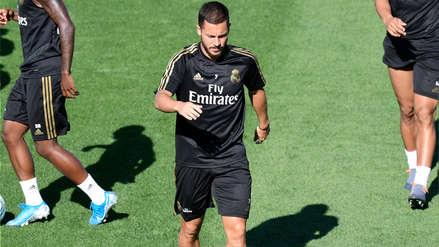 ¡Qué mala suerte! Eden Hazard sufrió lesión y es duda para el debut del Real Madrid en Liga Santander