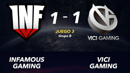 Infamous Gaming consiguió un empate ante Vici Gaming en la segunda noche de The International 2019