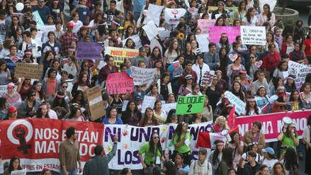 Ni una menos: Colectivos marchan en Lima contra la violencia de género