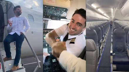 Subió a un avión y descubrió que era el único pasajero, así que decidió grabar la experiencia