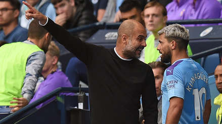 ¡Salió chispas! Kun Agüero discutió con Pep Guardiola tras ser cambiado durante el Manchester City vs. Tottenham