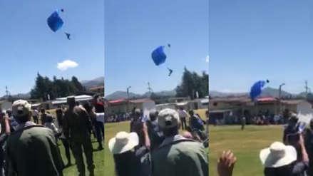 Cajamarca: Paracaidista de la FAP murió tras impactar contra techo durante ensayo militar