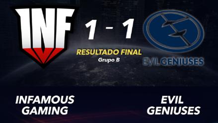 Infamous Gaming logró un punto de oro al empatar su serie ante Evil Geniuses en The International