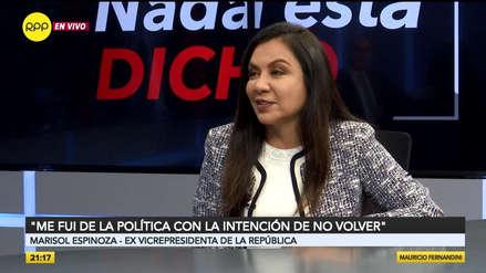 Marisol Espinoza continuará en APP: