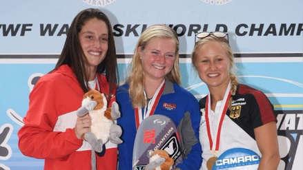 ¡Nuevo logro! Natalia Cuglievan ganó la medalla de plata en el Campeonato Mundial de Esquí Acuático