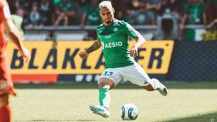 Con Miguel Trauco, Saint Etienne empató 1-1 con Brest por la segunda fecha de la Ligue 1