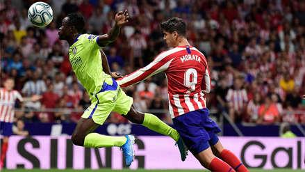 Álvaro Morata anotó el primer gol del Atlético de Madrid en la Liga Santander con fuerte cabezazo