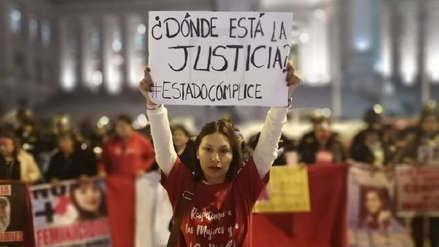 Colectivos y organizaciones marcharon por el centro de Lima contra la violencia a la mujer