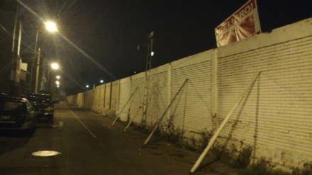 Vecinos de Chorrillos denunciaron el posible colapso de un muro cerca a sus viviendas