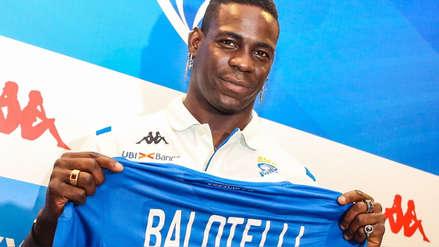 Mario Balotelli tras ser presentado en Brescia: