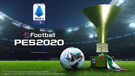 eFootball PES 2020 licencia toda la liga italiana de fútbol