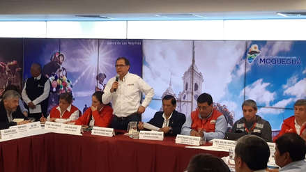 Ministros participan en mesa de diálogo para analizar la problemática del proyecto minero Quellaveco