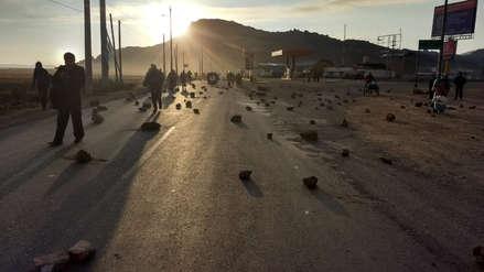 15 fotos del bloqueo de carreteras en Puno en apoyo a Walter Aduviri