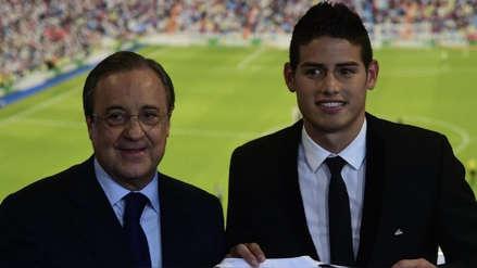 Agente de James Rodríguez se reunirá con Florentino Pérez para definir su futuro en el Real Madrid