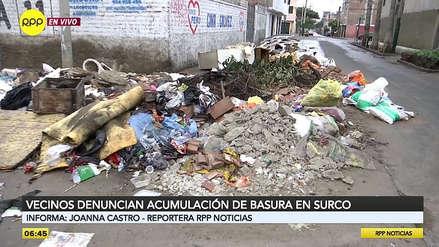 Vecinos de Surco denuncian acumulación de basura en calles del distrito [VIDEO]