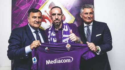 """""""Bienvenido, leyenda"""": Fiorentina oficializó el fichaje de Franck Ribéry"""