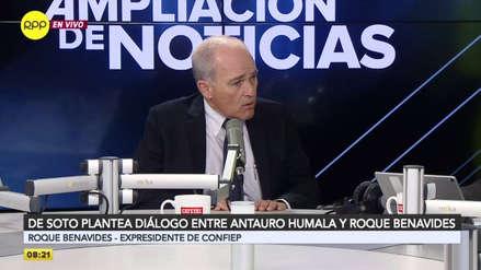"""Roque Benavides descarta diálogo con Antauro Humala: """"Mi solidaridad está con los policías muertos"""""""