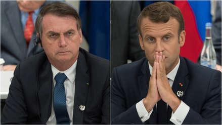Bolsonaro acusa a Macron de tener una