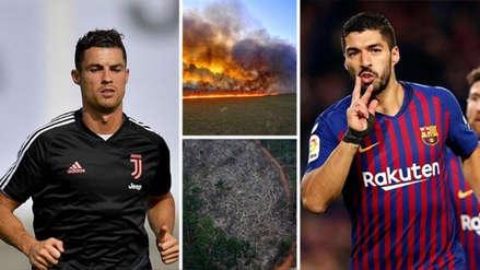 Cristiano Ronaldo, Luis Suárez y otros futbolistas se pronuncian en redes sociales por incendios en la Amazonía