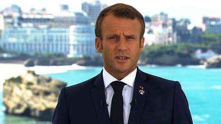Emmanuel Macron anuncia una movilización internacional para salvar la Amazonía