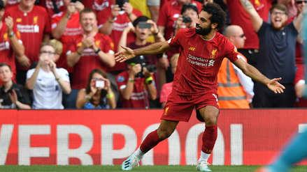 Mohamed Salah se lució al anotar un doblete en el triunfo de Liverpool ante Arsenal