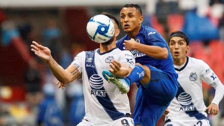 Con Yoshimar Yotún, Cruz Azul empató 1-1 con Puebla por la fecha 6 del Torneo Apertura por la Liga MX