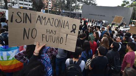 Así fue la protesta en Lima contra Bolsonaro por los incendios en la Amazonía