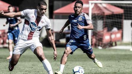 ¡Volvió a las canchas! Christian Cueva sumó minutos en amistoso con Santos y anotó su primer gol