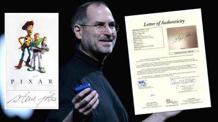 """Un póster de """"Toy Story"""" con la firma de Steve Jobs es subastado a muy alto precio"""