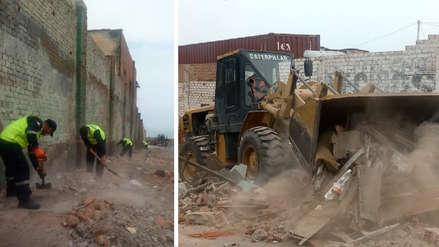 Marina de Guerra realizó recojo de desmonte y basura acumulada junto a colegio en La Perla
