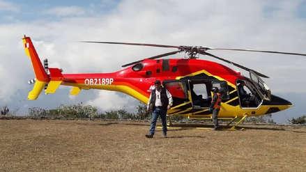 Funcionarios viajaban en helicóptero que aterrizó sin autorización en Choquequirao