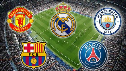 ¿Barcelona, Real Madrid o City? Conoce los 15 equipos más caros de la Champions League