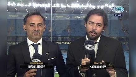 Mariano Closs se quedó sin voz en plena transmisión de partido de River Plate contra Cerro Porteño