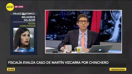 Milagros Salazar: La vacancia presidencial no está en la agenda de Fuerza Popular