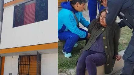 Huancayo: Mujer denuncia que su expareja la empujó desde ventana de un segundo piso