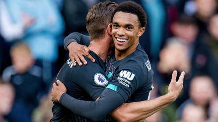 ¡La clavó en el ángulo! Centro de Trent Alexander-Arnold terminó en el primer gol de Liverpool ante Burnley