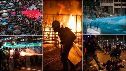 Caos en Hong Kong, con barricada incendiada, gases lacrimógenos y cócteles molotov [FOTOS]