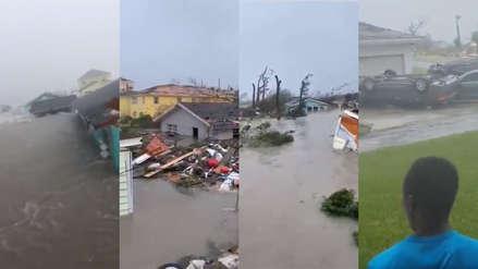 Los impresionantes videos del paso del huracán Dorian por las islas Ábaco de Bahamas