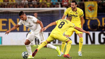 ¡Se la perdió! Casemiro casi pone el empate en el partido entre Real Madrid y Villarreal