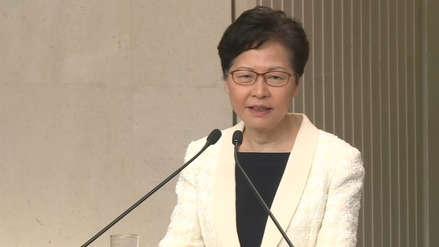 La jefa de gobierno de Hong Kong descarta que vaya a renunciar tras difusión de audio