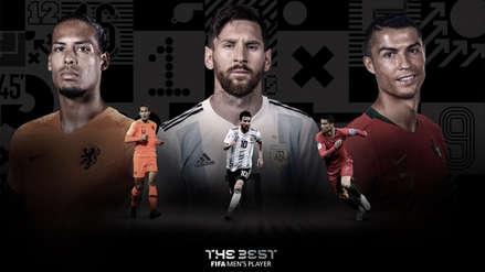 Cristiano Ronaldo, Lionel Messi y Van Dijk, los tres candidatos al The Best 2019