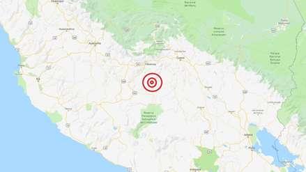 Apurímac | Un sismo de magnitud 4.8 remeció esta mañana el distrito de Chuquibambilla