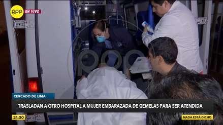 Minsa trasladó a gestante de gemelas a otro hospital por falta de incubadoras