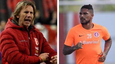 Ricardo Gareca se pronunció sobre la polémica en torno a la ausencia de Paolo Guerrero en los amistosos