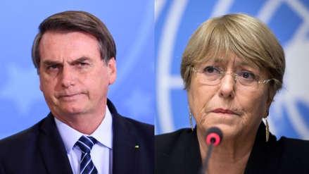 """Jair Bolsonaro a Michelle Bachelet: """"Si no fuera por Pinochet, Chile hoy sería una Cuba"""""""
