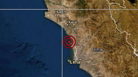 Un leve sismo se sintió en Lima esta madrugada