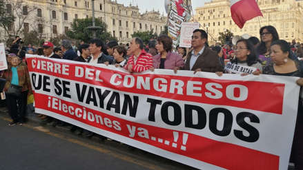 Se desarrolla la marcha nacional 'Que se vayan todos', a favor de adelanto de elecciones