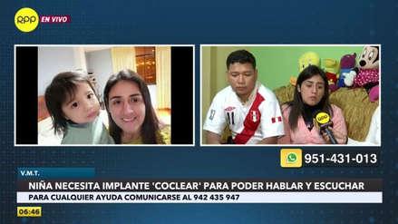 Padres necesitan ayuda económica para comprar implante auditivo para su hija con sordera [VIDEO]